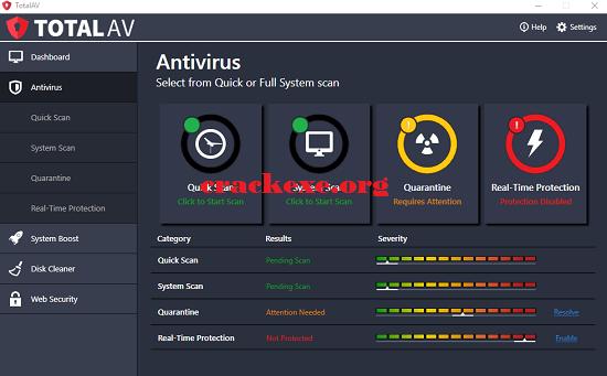 Total AV Antivirus 2019 Crack Free Download